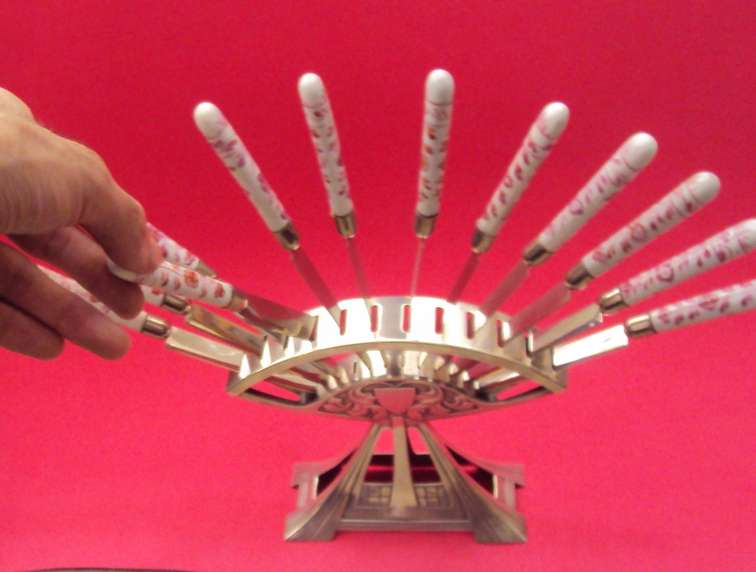 DI 50 – Porta facas C/ 12 Facas WMF Alemão Início Século Passado  #C10A30 1480x1119