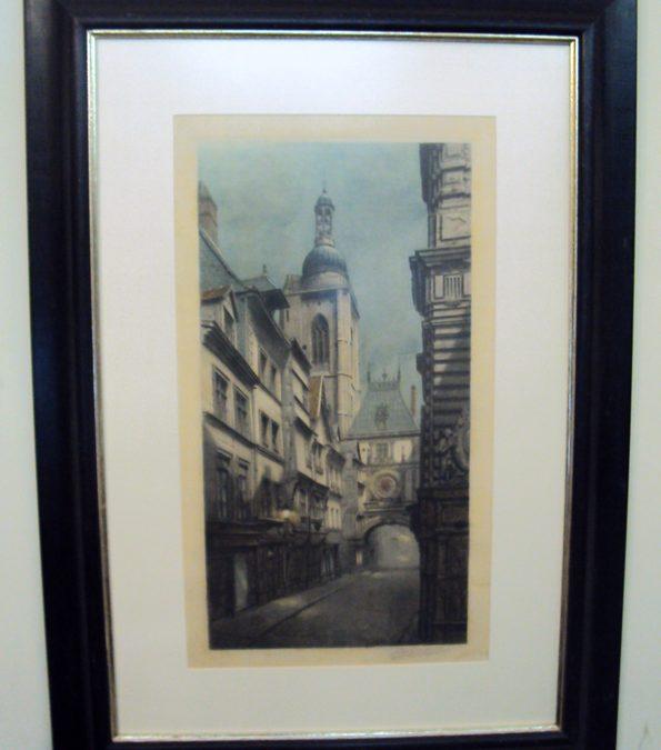 DI 132 – Quadro (gravura) Galeria Em Paris