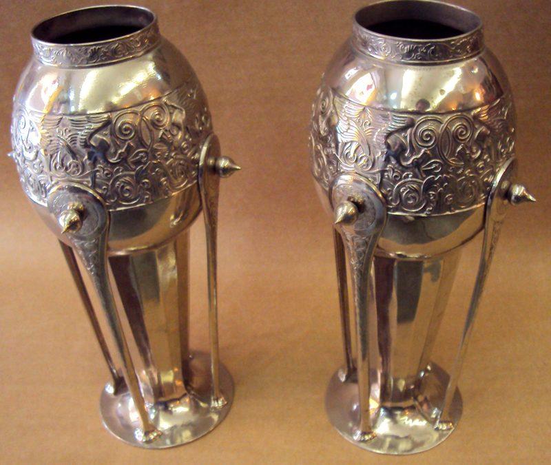 DI 193 – Par De Vasos Wmf Art Decó Com Banho De Prata