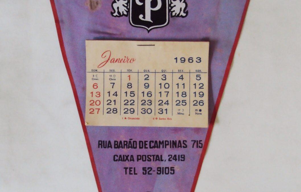 DI 338 – Flâmula antiga queijos Polenghi de São Paulo com calendário de 1963