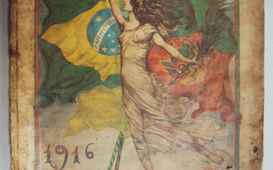 DI 36 – Almanaque Correio do Povo 1916 Art Nouveau primeira edição de Porto Alegre