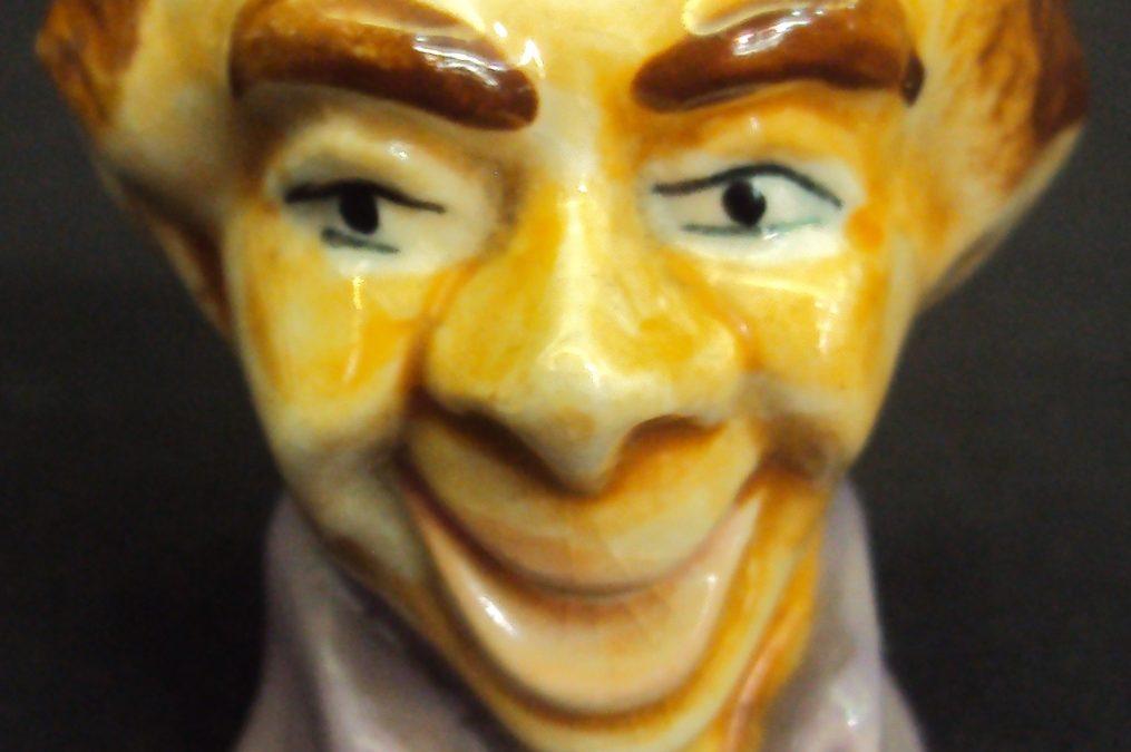 LO 313 – Saleiro De Porcelana Em Forma De Cabeça De Homem