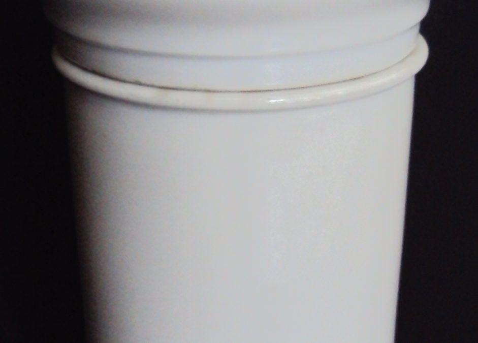 LO 317 – Pote antigo e grande de farmácia em porcelana francesa Charles Pillivuyt Mehun