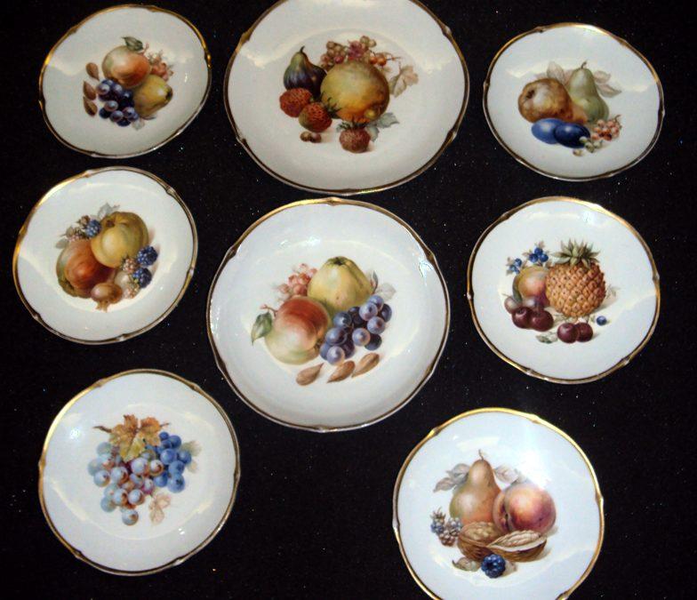 LO 65 – Conjunto Pratos De Porcelana Schumann Bavária Com Frutas
