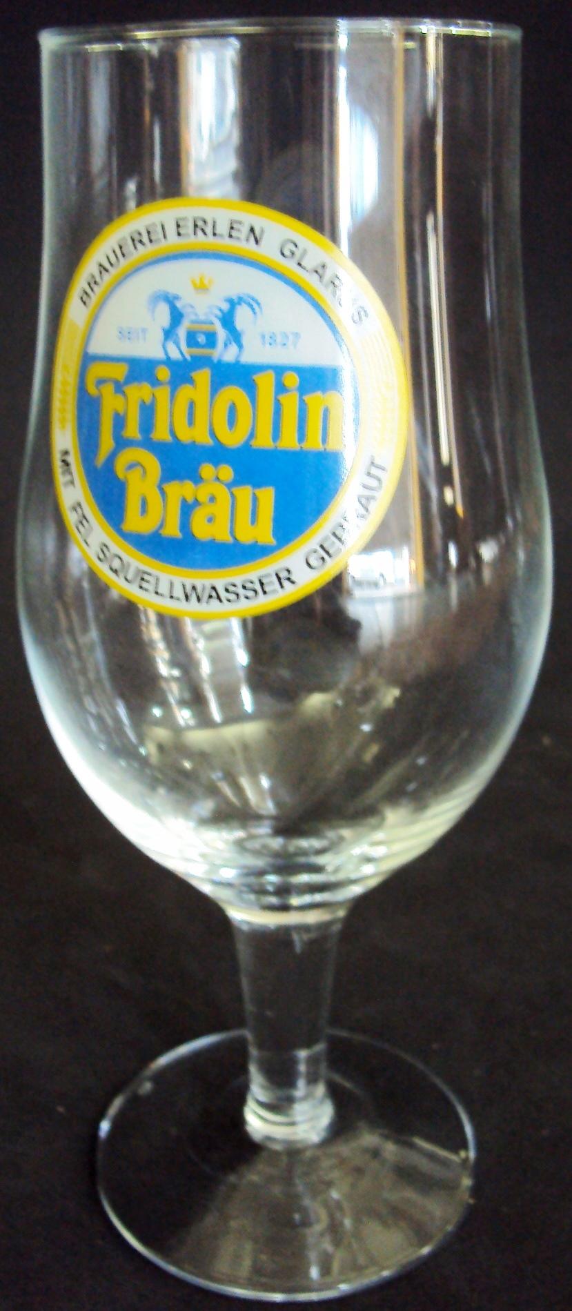 CR 287 – Copo De Cerveja Alemão Fridolin Brau Feito De Vidro
