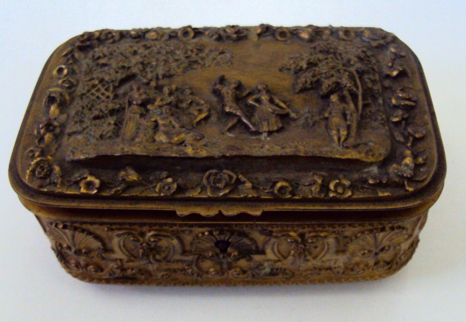 DI 13 – Caixa Em Bronze (porta-joias) França / Século XIX
