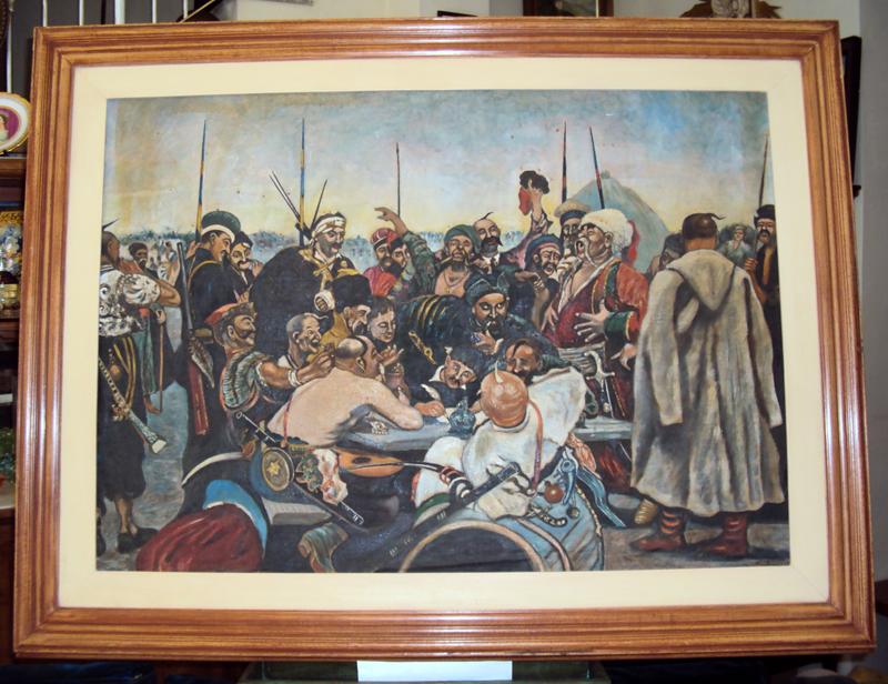 DI 127 – Quadro antigo russo Resposta Dos Cossacos Ao Sultão Otomano