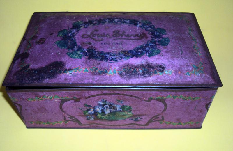 DI 169 – Caixa de lata Vintage Metal (rosa) – New York