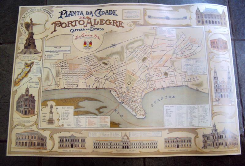 DI 80 – Gravura Nova (mapa Do Ano 1906) De Porto Alegre Antigo