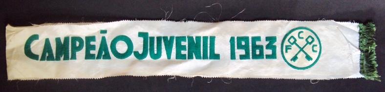 DI 276 – Faixa antiga de 1963 CELUPA Guaíba Futebol Clube em tecido e feltro